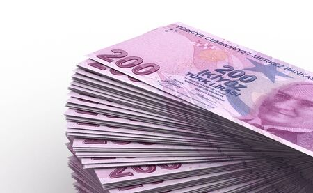 Stack of Turkish Lira  computer generated image  Stock Photo - 16028055