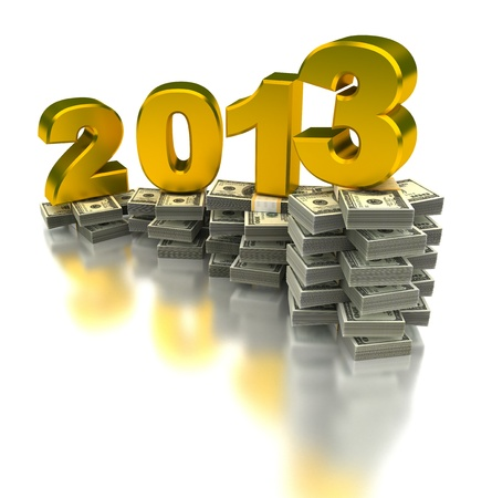 Year of the growing  computer generated image Stock Photo - 16028068