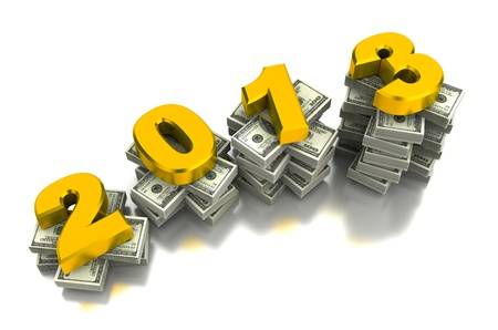Year of the growing  computer generated image  Stock Photo - 16028069