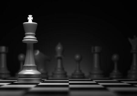 rey: Ajedrez concepto con ordenador rey generado imagen