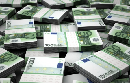 Billion Euros Concept Image  Computer generated image Stock Photo - 16134864
