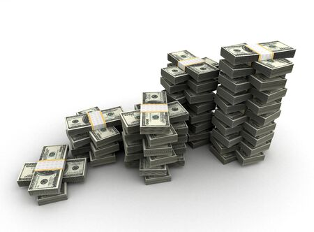 Stack of DollarConcept  Computer generated image Stock Photo - 16134849