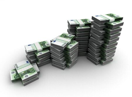 one hundred euro banknote: Stack of Money Concept  Computer generated image  Stock Photo
