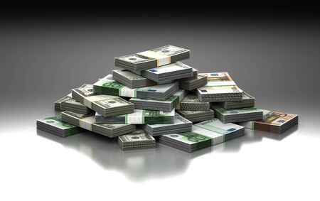 Stack of Money Concept  Computer generated image  Stock Photo - 16134850