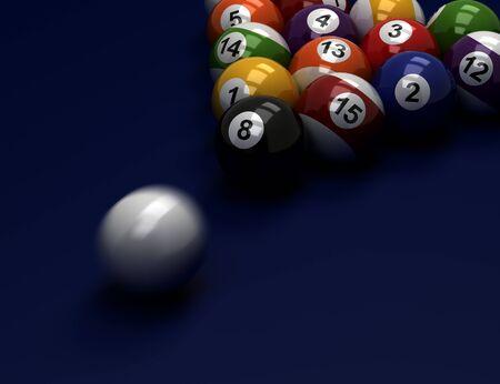 Billiard Balls  Hi resulotion computer generated image  Stock Photo - 16134867