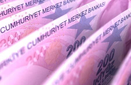 Turkish Lira Close-Up  High Resulotion computer generated image Stock Photo - 16134880