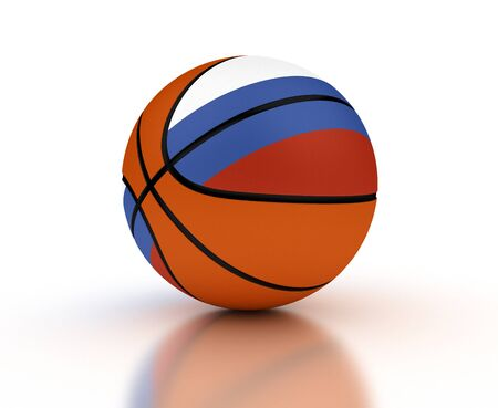 basketball team: Russian basketball national team  Computer generated image