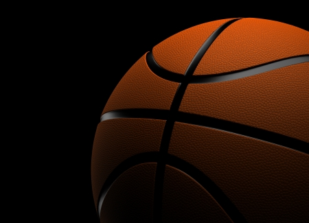 Basketball with black background  Computer generated image  Stock Photo - 16239740