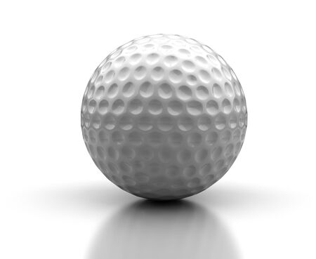 contrasts: Golf ball on white background  Computer generated image  Stock Photo