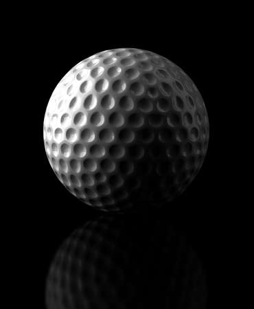 golf ball: Golf ball on black background  Computer generated image