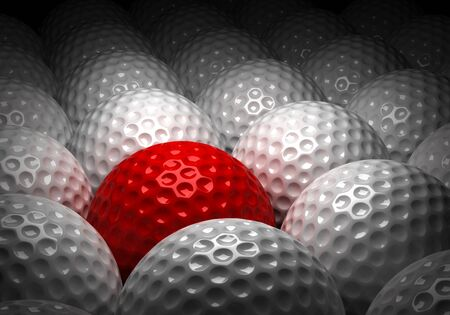 Background with Different Golf Ball  Computer generated image  Stock Photo - 16239706