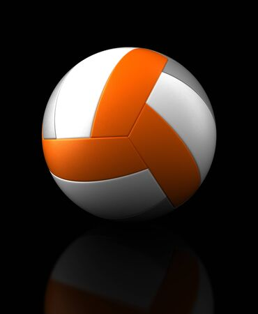 Volleyball on black background  Computer generated image  Stock Photo - 16239692