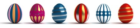 Multi color painted easter eggs  computer generated image  Stock Photo - 16239750