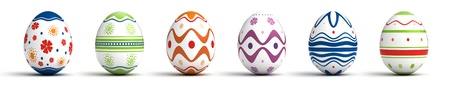 Multi color painted easter eggs  computer generated image  Stock Photo - 16239749