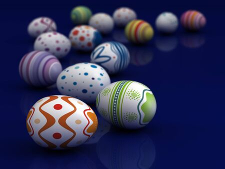 Multi color painted easter eggs  computer generated image Stock Photo - 16239751