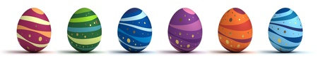 Multi color painted easter eggs  computer generated image  photo