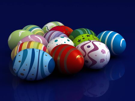 Multi color painted easter eggs  computer generated image  Stock Photo - 16239756