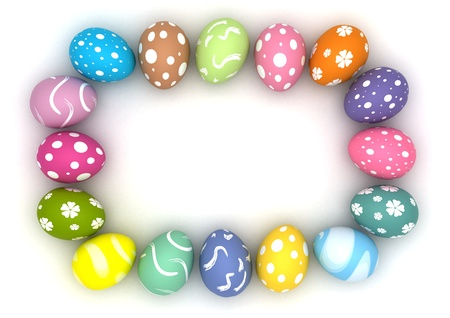 Frame with easter eggs  computer generated images Stock Photo - 16239753