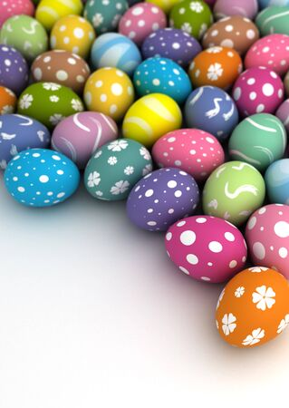 Multi color painted easter eggs  computer generated image Stock Photo - 16239760