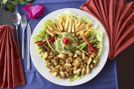 chicken curry: A Chicken Curry Essen fertig zum Essen
