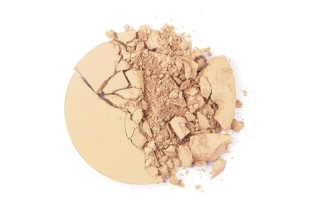 Crushed EyeShadow sample on white for magazine Stock Photo
