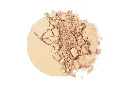 stage makeup: Ombretto del campione schiacciato su bianco per la rivista