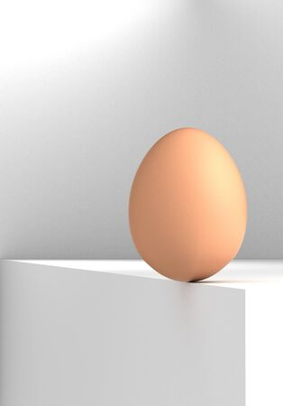 topple: Risk Concept with egg  computer generated image