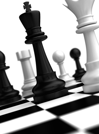 Chess Concept  high resolution computer generated image Stock Photo - 16431100