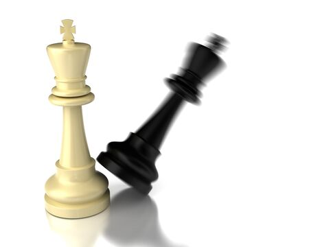 Checkmate on white background  high resolution computer generated image  Stock Photo - 16430974