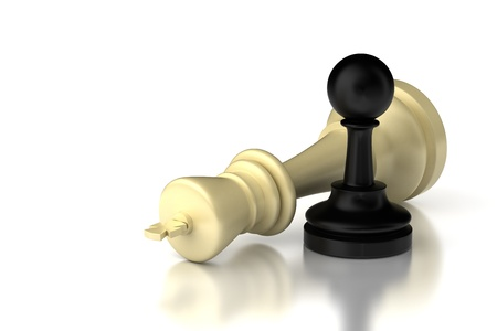 Pawn and King  high resolution computer generated image Stock Photo - 16430999