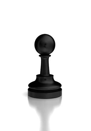 Single Chess Pawn  high resolution computer generated image Stock Photo - 16430969