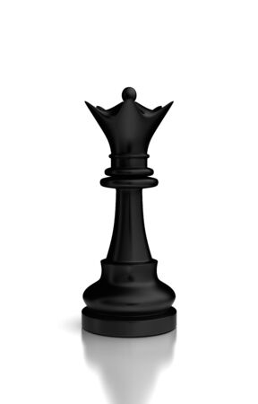 Single Chess Queen  high resolution computer generated image