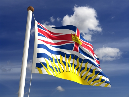 British Columbia flag British Canada  isolated with clipping path Stock Photo - 16431114
