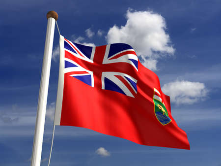 Manitoba flag Canada  isolated with clipping path  Stock Photo - 16430991