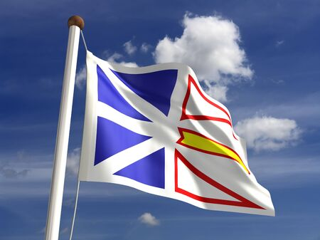 Newfoundland flag Canada  isolated with clipping path Stock Photo - 16430989