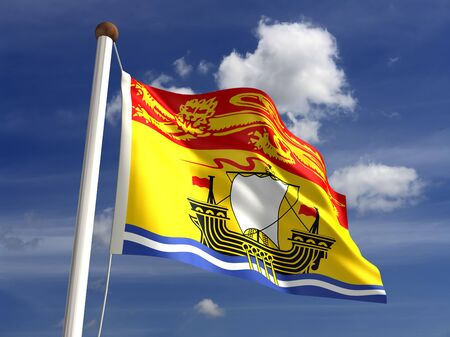New Brunswick flag Canada  isolated with clipping path  Stock Photo - 16431115
