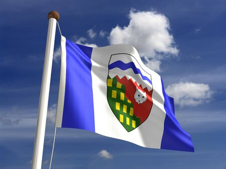 Northwest Territories flag Canada Stock Photo - 16431087