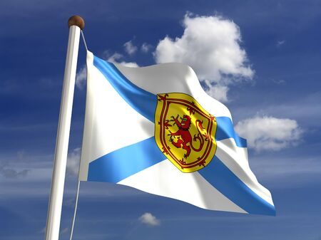 Nova Scotia flag Canada  isolated with clipping path  photo