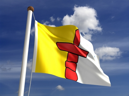 Nunavut flag Canada  isolated with clipping path  photo