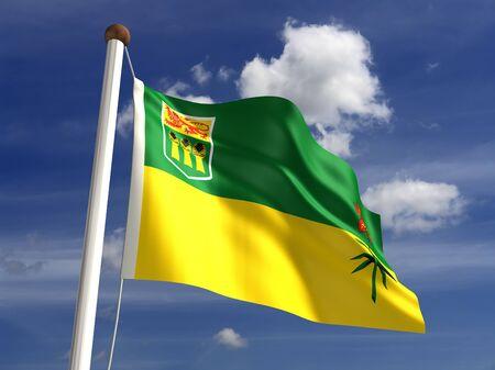 saskatchewan flag: Saskatchewan flag Canada  isolated with clipping path  Stock Photo