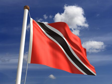 Trinidad and Tobago flag  with clipping path  photo