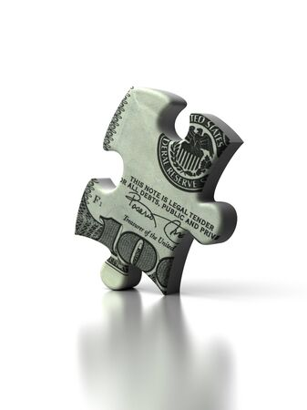 Dollar Puzzle  high resolution computer generated image Stock Photo - 16430978