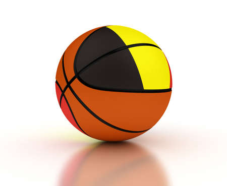 Belgian Basketball Team  isolated with clipping path  Stock Photo - 16431609
