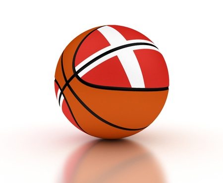 Danish Basketball Team isolated with clipping path