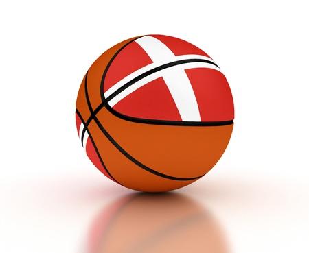 Danish Basketball-Team mit Clipping-Pfad