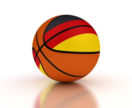 German Basketball Team  isolated with clipping path  Stock Photo - 16431613