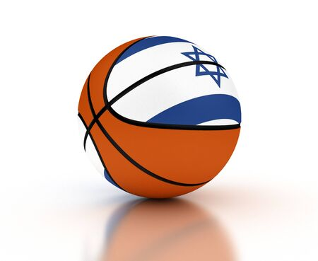 Israeli Basketball Team  isolated with clipping path  photo