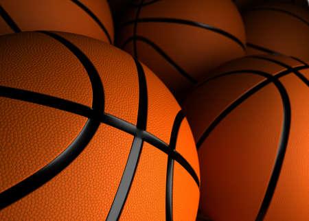 basketballs: Basketballs Closeup  high resolution computer generated image