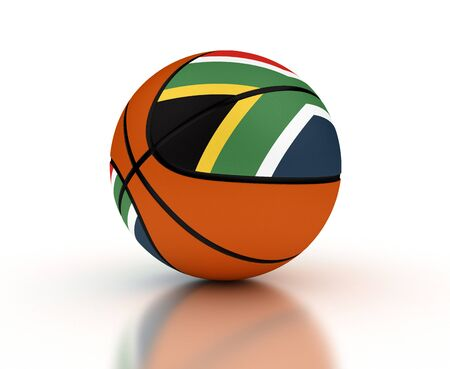 South African Basketball Team isolated with clipping path