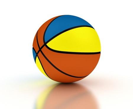 Ukrainian Basketball-Team mit Clipping-Pfad
